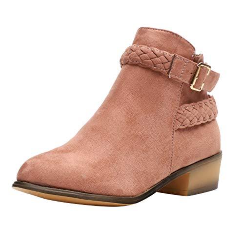 Stiefel Damen Mode Ankle Boots Stiefel Solid Gestrickte Flock Schuhe Kurze Stiefeletten Bootie Freizeitschuhe Langschaftfstiefel Winterstiefel Pump Stiefel ABsoar (Größe Boots Damen Ankle 9 Flache)