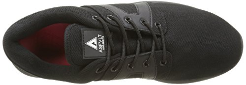 Asfvlt Super, Baskets Basses Mixte Adulte Noir (Black Black)