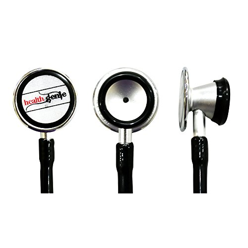 Healthgenie HG-401B Cardiology Aluminium Dual Light Weight Stethoscope (Black)