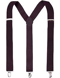 Coffee Color Y-Back Clip Suspenders