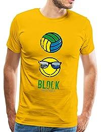 Spreadshirt Smiley World Block Beach Volleyball M/änner Premium Tank Top