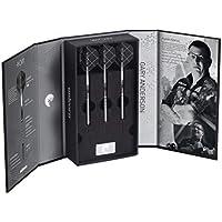 Unicorn Dartpfeilspitzen aus Stahl von Weltmeister Gary Anderson–Phase 3Deluxe Noir, schwarz