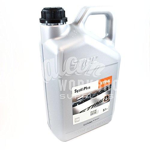 5 LITRES GENUINE STIHL SYNTH PLUS CHAINSAW CHAIN BAR & BLADE OIL - 5L - SAW