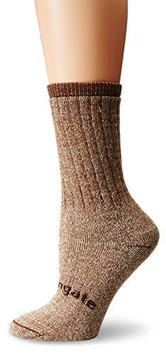 Crew Heavyweight Crew Socken (Ausangate alpacor Schwergewicht Gerippter Wandern Socken für Frauen, Damen, Sandfarben/Braun, S)