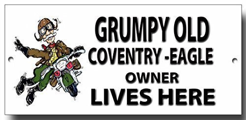 "Grumpy Old Coventry Eagle Eigentümer Lives Here "", Metall"