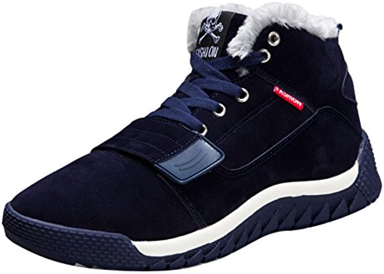 Hombres zapatos de invierno Deportes Zapatos - Juelya Calentar forrado Hombres Cima mas alta Zapatillas Cómodo...