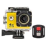BFZJ Action Kamera 4K Ultra HD WiFi 16MP Fernbedienung Sport Kamera 1080P / 30fps 170 Grad 2,0 Zoll...