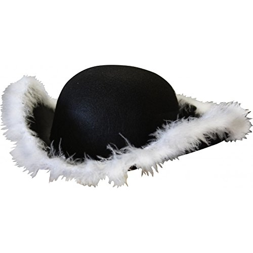 Tricorne mit Marabu (Tricorne Kostüme)