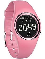 Armbanduhr und Fitness-Armband, wasserdicht IP68, zum genauen Verfolgen von Schritten, Entfernungen und Kalorien, mit Timer-Funktion, zum Laufen, Rennen für Damen und Herren (ohne Bluetooth)