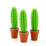 Bolígrafo de punta redonda Bonsai Cactus para papelería, suministros de oficina, bolígrafos de tinta de 0,5 mm, 2 unidades (líquido)