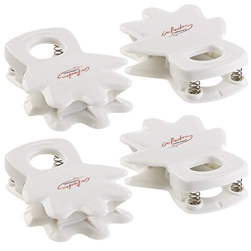 "infactory Anti-Spritz Duschvorhang-Clips ""Helping-Hands"", 4er-Set thumbnail"