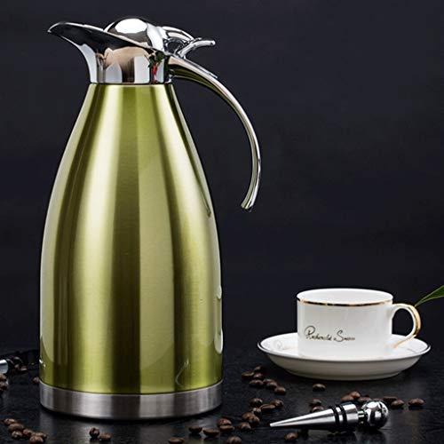 YXYH 304 Rostfreier Stahl Isolationstopf Haushalt Europäischer Stil Vakuum Kessel 2L Kaffee Krug...