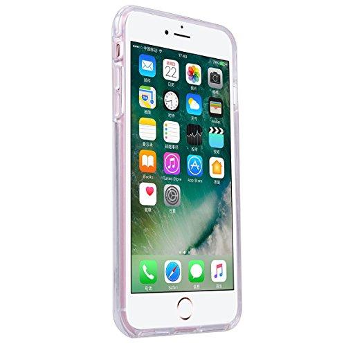 Yokata iPhone 7 Hülle Transparent Weich Silikon TPU Soft Case Protective Cover Handyhülle Schutzhülle Durchsichtig Clear Backcover Bumper mit Mini Pferd Muster + 1 x Kapazitive Feder Delphine