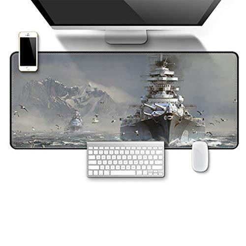 JINYIJUN Mauspad, übergroß, Militär-Krieg, Tastatur, Verdickungsschloss, Panzerwelt, Computer-Schreibtischunterlage, 70 x 30 cm, 1, 70 * 30cm