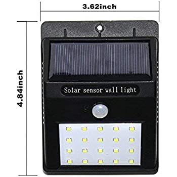 MW Mall India Brass Solar Wireless Security Motion Sensor Night Light Bright and Waterproof for Outdoor/Garden Wall (White)-20 LED