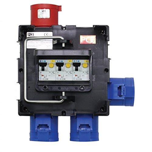 PCE IMST Distribution Box 32A 415V In, 3 x 32A 240V Out (9030183)