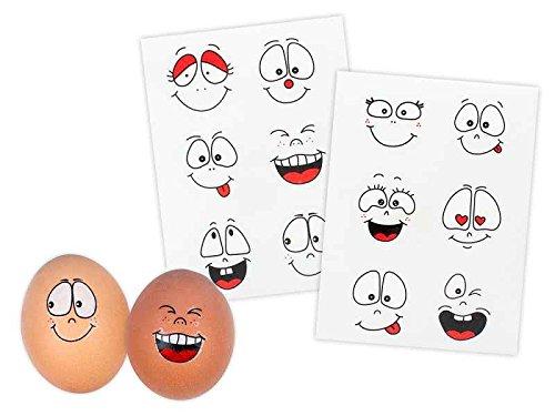 Rubbel Eier Tattoos Hoppsi 24er Set - Osterei, eierfärben, Osterdeko, Eierfarbe