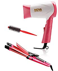 Nova 990 + 8104 + Hair Roller Personal Combo Kit (Pink)