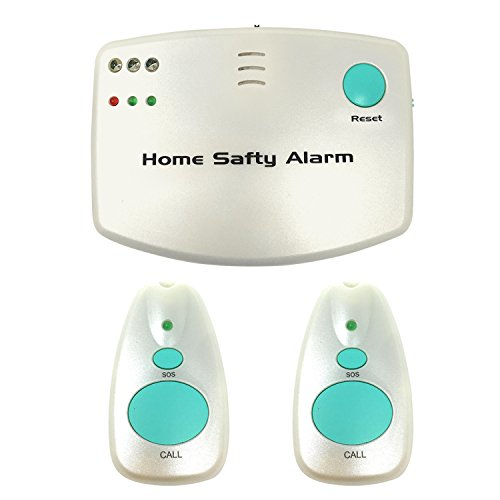 CP-10 Wireless Caregiver Pager Alert Alarm - Smart Personal Home Emergency Care Alert with 2 Call Buttons for Seniors, Elderly, Nurses, Disabled, Pregnant, and at home Sick.