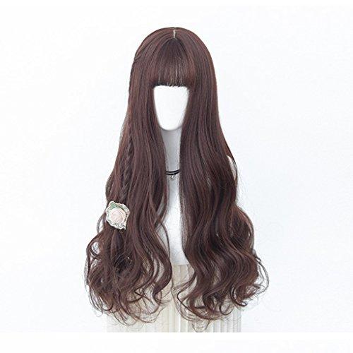 Chang Xiang Ya Shop Perruque Longue Perruque Marron foncé Pleine Perruque Perruque Longue Naturelle Naturelle Douce Duveteuse