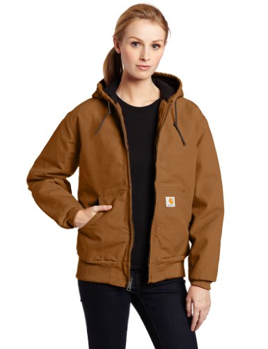 Carhartt Women's Quilted Flannel Lined Sandstone Active Jacket WJ130,Carhartt Brown,XX-Large -