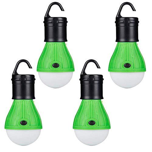Campingzelt Glühlampen, LED Zelt Glühlampe Zeltlichter hängendes Notlicht batteriebetriebenes wasserdichtes bewegliches Birnenjagd Wandernfischen kampierendes Auto Reparatur Auto, 4 Satz