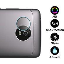 Distinct® 4 pezzi 7.5H vetro temperato Soft fotocamera posteriore Lens Protector Film per Motorola Moto Z2 Force