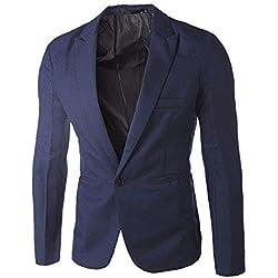 Chaqueta de Traje para Hombre STRIR Hombres Casual Un Botón Trajes Formales Abrigos Blazers de Negocios