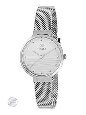 Reloj de Acero Marea Analógico Mujer B54163/4 con Malla Milanesa y Esfera Rosa Claro