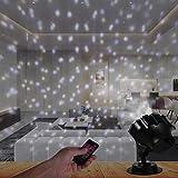 LED Projektionslampe LED Projektor Lichter Schneeflocke Schneefall-Lichteffekt Weihnachtenbeleuchtung Innen & Außen IP65 Gartenlicht für Weihnachten Party Geburstag Hochzeit und Feiertage Dekoration