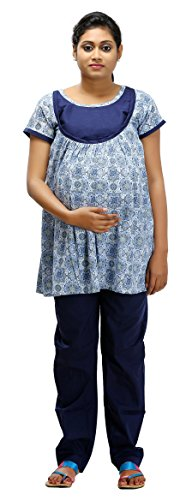 Ziva Maternity Wear Women s Maternity Pyjama Set (ZMN 2004 L e8b15248e