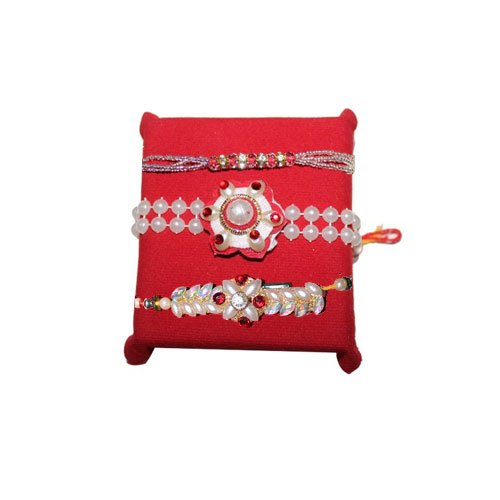 handicrunch-rakhi-set-of-3-beautiful-pearl-rakhis-set-with-haldirams-rasgulla
