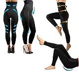 Générique Legging Minceur Taille Haute molletoné Galbant Gainant Anti-Cellulite Taille S M L XL XXL XXXL 34 à 52 (L/XL(42-46))