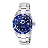 Invicta Unisex-Adult Quartz Watch, Analog Display and Stainless Steel Strap 9204OB