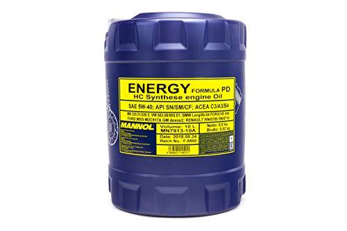 MANNOL Energy Formula PD 5W-40 API SN/SM/CF Motorenöl, 10 Liter