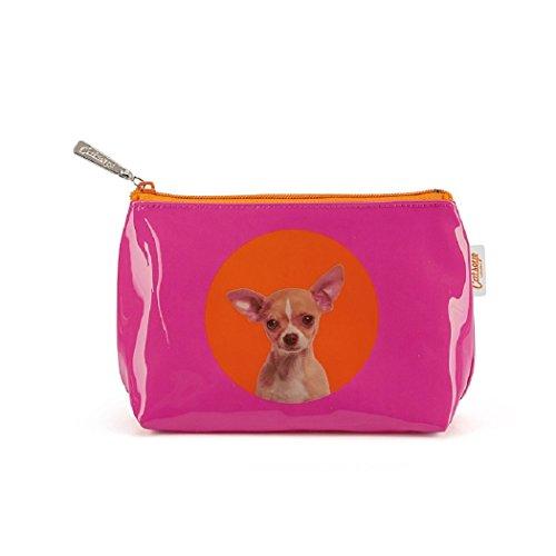Catseye Kosmetiktasche Spot Chihuahua Small Bag Premium Hund Mäppchen Tasche Klein Etui Neu