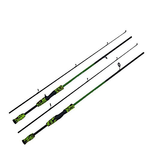 WOMEII Angelrute Green Camouflage 1.8M Spinnruten Locken Test M Action Carbon Reisekarpfen Baitcasting Spinnrute