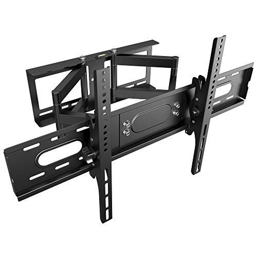 RICOO TV Wandhalterung R28-XL Universal für 32-75 Zoll (ca. 81-191cm) Schwenkbar Neigbar   Wand Halter Aufhängung Fernseh Halterung auch für Curved LCD & LED Fernseher   VESA 300x200 600x400 Schwarz