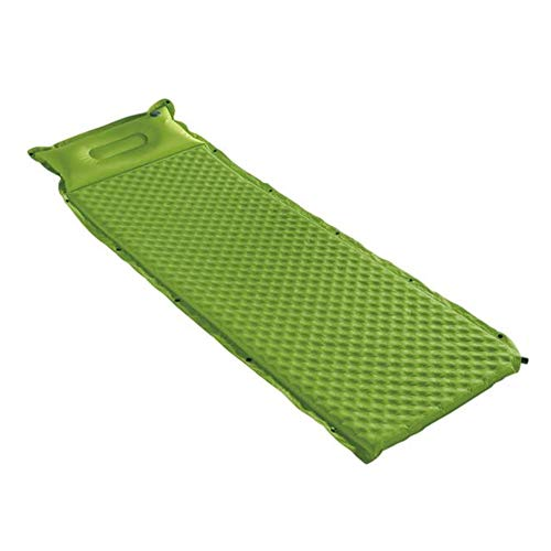 Ultraleichte aufblasbare Isomatte, Selbstaufblasender kompakter Schaumspleißen einzelne kampierende Auflagen Schlafsack-Matte mit angefügtem Kissen Wasserdichte leichte aufblasbare Luftmatratze im Fre
