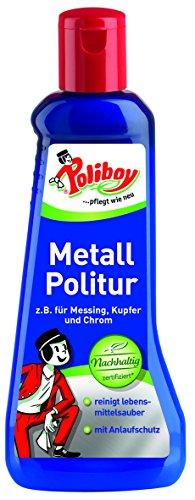 Poliboy - Metall Politur - Reinigung und Pflege von Metallen - mit Anlaufschutz - Einzeln - 200ml - Made in Germany