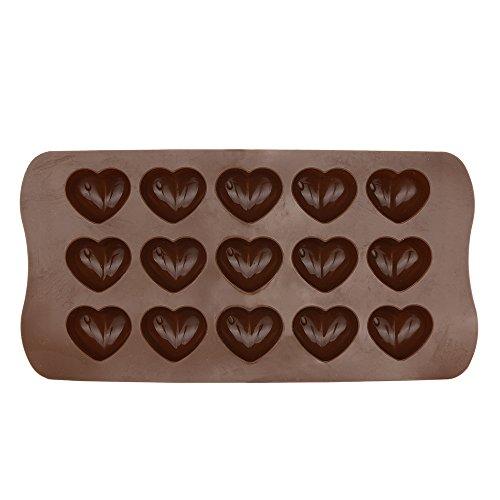 HWTOP Haushalt & Wohnen Liebe Schokolade Kuchenform Antihaft Silikon Form Love Heart Shaped Kuchen-Form Jelly Ice Fondant Sugar Tool (Shaped Kuchen-deckel Heart)