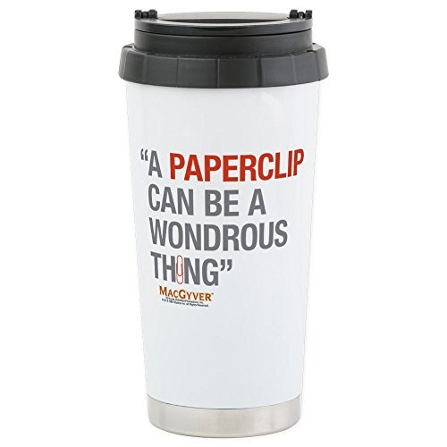 CafePress - MacGyver: Paperclip Stainless Steel Travel Mug - Stainless Steel Travel Mug, Insulated 16 oz. Coffee Tumbler by CafePress