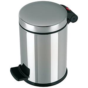 Hailo Solid S Mülleimer, 1 x 4 Liter, Kosmetikeimer mit Kunststoff Inneneimer, Tretmülleimer| Tragegriff, Badezimmer…
