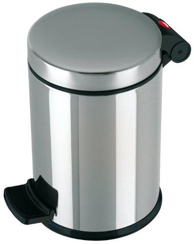 Hailo ProfiLine Solid S Mülleimer (aus Edelstahl, 4 Liter, Kunststoff-Inneneimer, Anti-Rutsch-Fuß) 0704-060