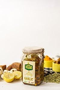 Garlic Pickle/Lahsun Ka Achar 400 gm Homemade, Farm fresh, Preservative Free, Gourmet Foods & Traditional Taste - By The Little Farm Co