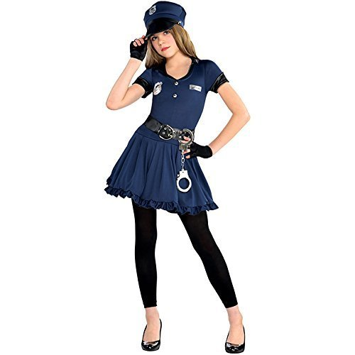 stume for Police Fancy Dress Outfit by Amscan (Girl Cop Kostüm Kinder)