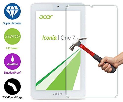 ZeWoo Display Glas Panzerfolie für Acer Iconia One 7 B1-770 (7 Zoll) Glasfolie Hartglas Schutzfolie 9H *2.5D, nur 0,33mm dünn (Iconia Protector Screen Acer)