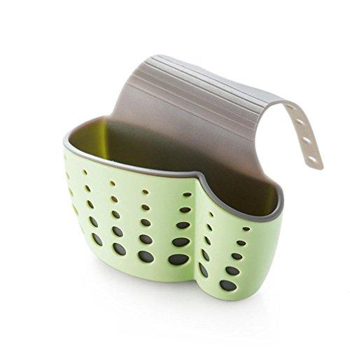 YJYdada Nützliches Saugnapf für Spülbecken, Seifenschwamm, Abtropfgestell für die Küche grün