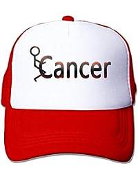 c051521713d errterfte Men Women Fuck Cancer Mesh Hat Cap Personalized Hat Comfortable  Adjustable