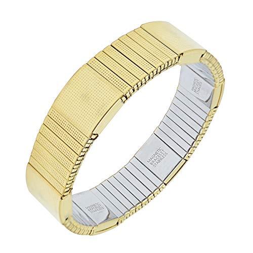 Charme Armbänder Kostüm - MHOOOA Elastisches Starkes magnetisches Armband für MännerKostüm-Goldfarben-Ionenüberzug-Charme-Armband-Armband